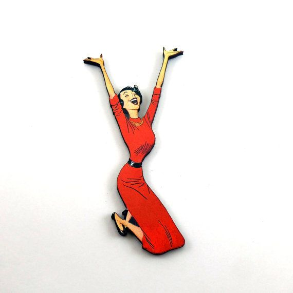 Classic 50s Mom Pin - A14