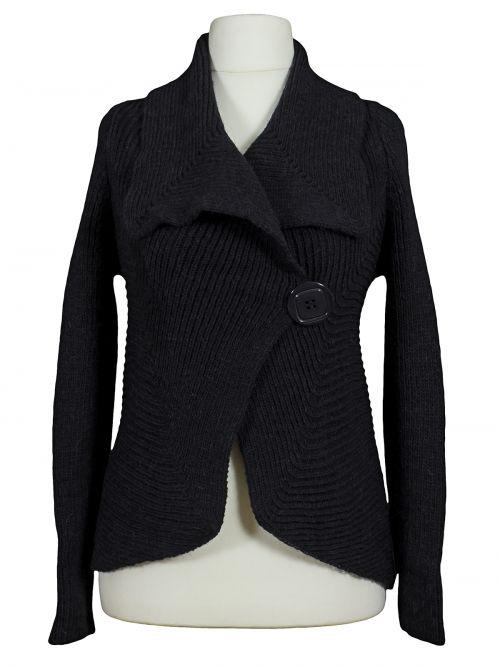Damen Strickjacke Caban, schwarz von fashion made in italy bei www.meinkleidchen.de
