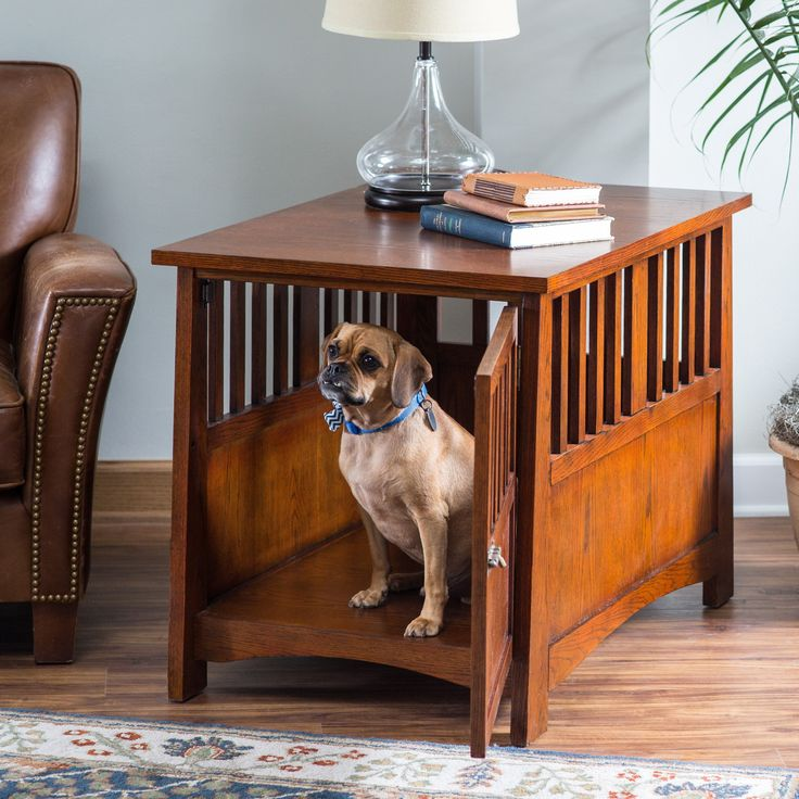 Boomer & George Everett Mission Pet Crate End Table | from hayneedle.com