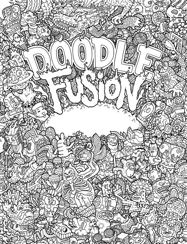 Doodle Invasion Zifflins Coloring Book Volume 1 Amazoncouk