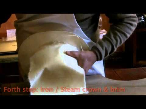 Watch what it takes to woodblock a montecristi panama hat - YouTube