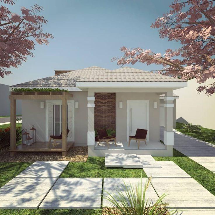 25 melhores ideias de fachadas de casas terreas no for Modelos de casas pequenas y bonitas