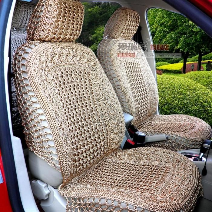 Inspiration only. No link. Crocheted car seat covers. Beautiful Crochet P...