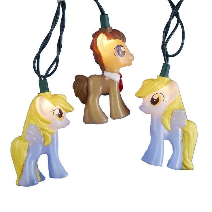 Kurt Adler UL 10-light My Little Pony Time Turner and Muffin Light Set