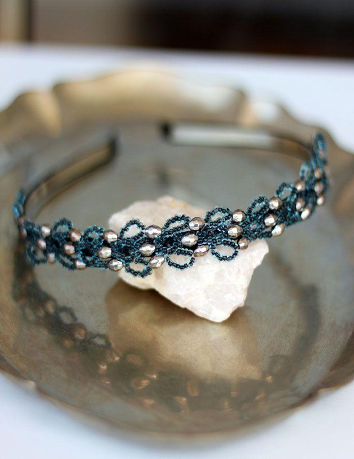 Cintillo azul plata