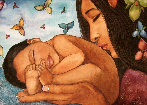madre e hijo Bienvenidos a la impresión de arte por claudiatremblay