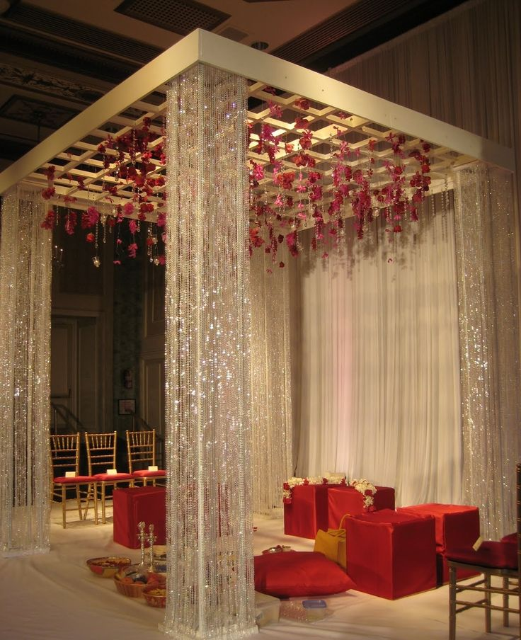Indian wedding decorations Tampa Wedding stage