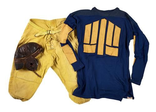 Vintage friction strip football jerseys from the 1910s30s