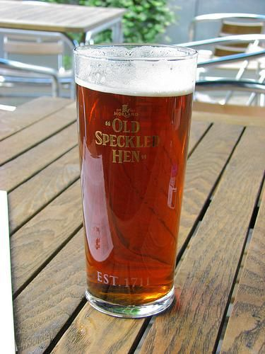 Old Speckled Hen English Ale.  Enjoyed a pint London.