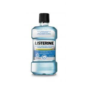 Listerine Mondwater Actieve Tandsteen Controle 250 ml  Description: Mondwater tegen tandsteenvorming Listerine Actieve Tandsteen Controle mondwater vermindert tandsteenvorming en houdt je tanden natuurlijk wit. Listerine Actieve Tandsteen Controle verwijdert tot 99% van de bacterien die achterblijven op plaatsen die je met je tandenborstel niet kan bereiken. Gebruik Listerine Actieve Tandsteen Controle tweemaal per dag voor een optimale mondhygiene minder tandsteenvorming en een frisse adem…
