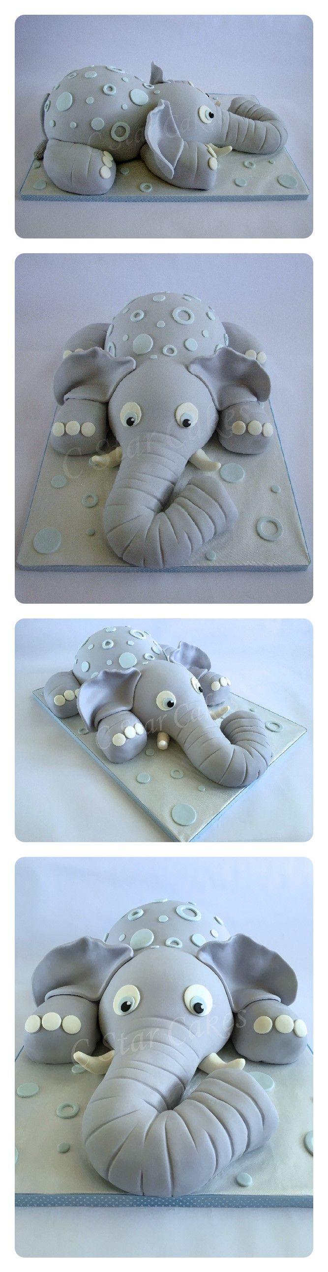 Baby Elephant cake by C Star Cakes #cstarcakes #babyshowercakes