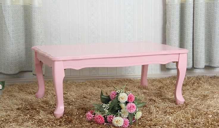 99.00$  Watch here - http://aliztr.worldwells.pw/go.php?t=32623479452 - Modern Small Table Folding Leg Rectangle 80cm 2 Color White Pink Living Room Furniture Japanese Center Laptop Wood Console Table