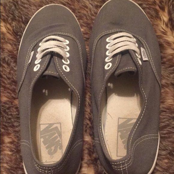 Grey vans Woman's grey vans slip on shoe Vans Shoes Sneakers