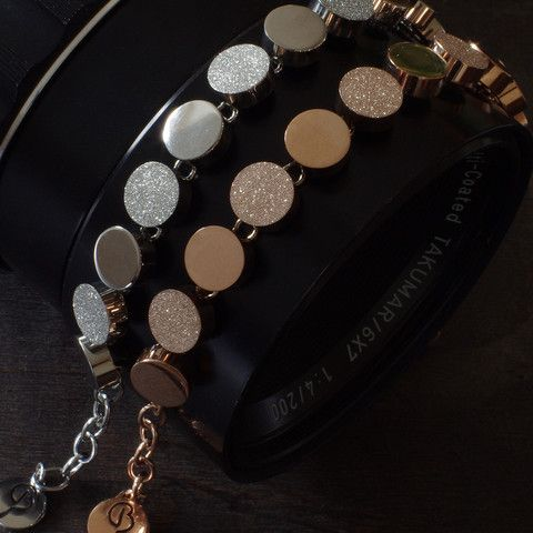 Stainless Steel Bracelet with Round Stones by Edblad