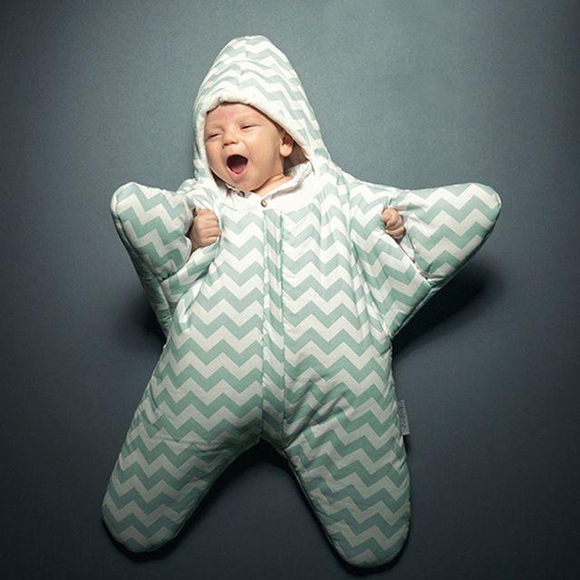 3 Farben Neugeborene Baby Shark Sterne Schlafsack Für Winter Kinderwagen Bett Swaddle Decke Netter Cartoon Bettwäsche Schlaf Säcke