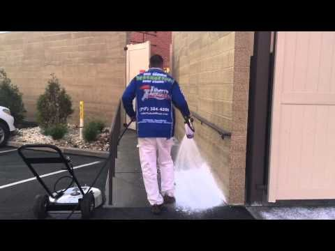 Pressure Washing Concrete at Restaurant in York PA