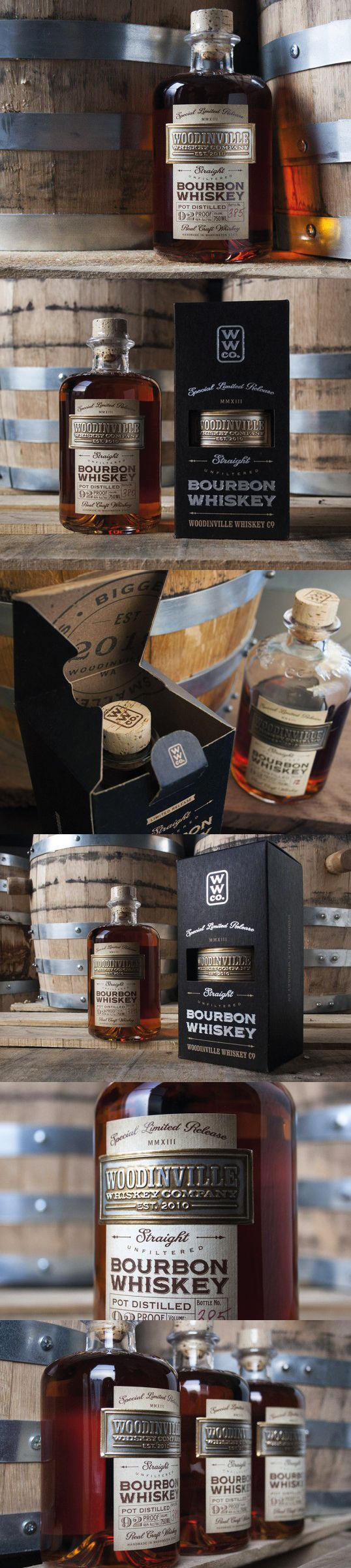 Woodinville Whiskey Co. Whiskey for the tough. #packaging #design