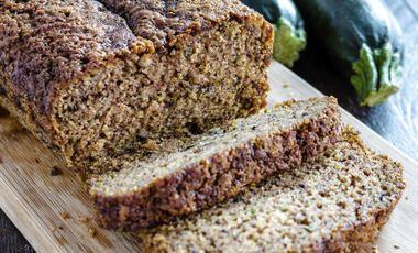 Cuketový chléb z celozrnné mouky
