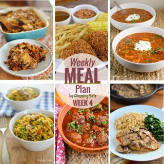 Slimming Eats Weekly Meal Plan (Week 4) - Slimming World