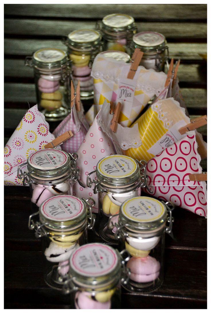 etiquetas para frascos sobres cosidos souvenir cumpleaos mia