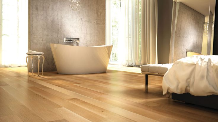 A traditional European technique used on White Oak creates delicate, long curves and slightly more pronounced undulations. The result is a very distinctive floor with remarkable contrasts. #hardwoodfloor #interiordesign #homedecor #lauzon #artfromnature