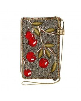 8bf9ed678d787 Cherry on Top Beaded/Embroidered Crossbody Phone Bag | Beaded ...