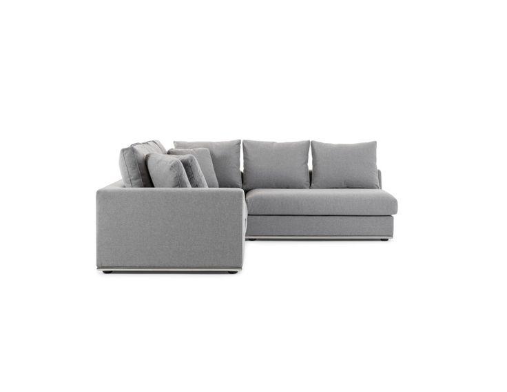 HORIZON - Canapé d'angle modulaire - Gris clair