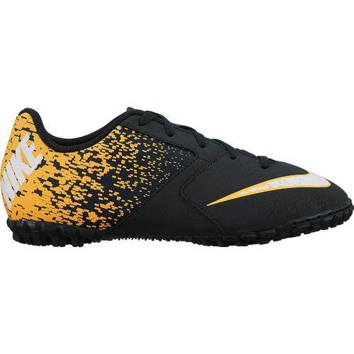 Nike Boys' BombaX Indoor Soccer Shoes (Black/White/Laser Orange, Size 10) - Youth Soccer Shoes at Academy Sports