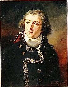 Louis-Alexandre Berthiern maréchal de camp, ched d'état major en 1792, François-Gabriel Lépaulle d'après Antoine Jean Gros (1834) - Major général de la Grande Armée, Berthier dirige l'état major de Napoléon durant toutes les campagnes de l'Empire. En 1814, il se rallie à Louis XVIII et meurt dans des conditions mystérieuses à Bamberg où il s'est réfugié pendant les Cent-Jours.