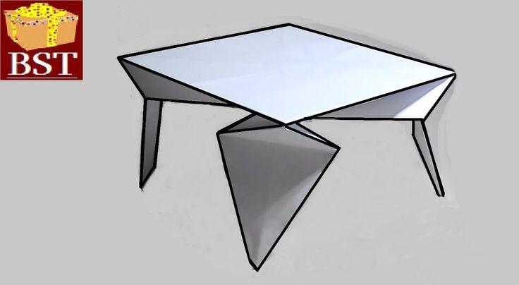 Как сделать для кукол стол на четырех ножках из бумаги А4?