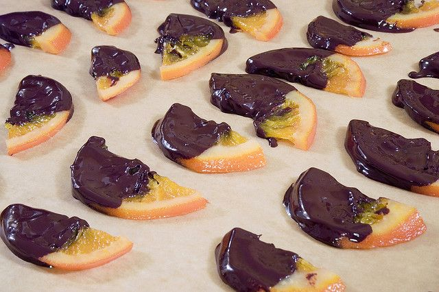 Chocolate Dipped Candied Orange Slices by dopiaza, via Flickr