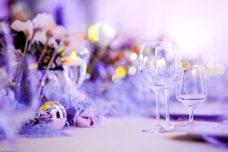 Table decoration with christmas ornaments