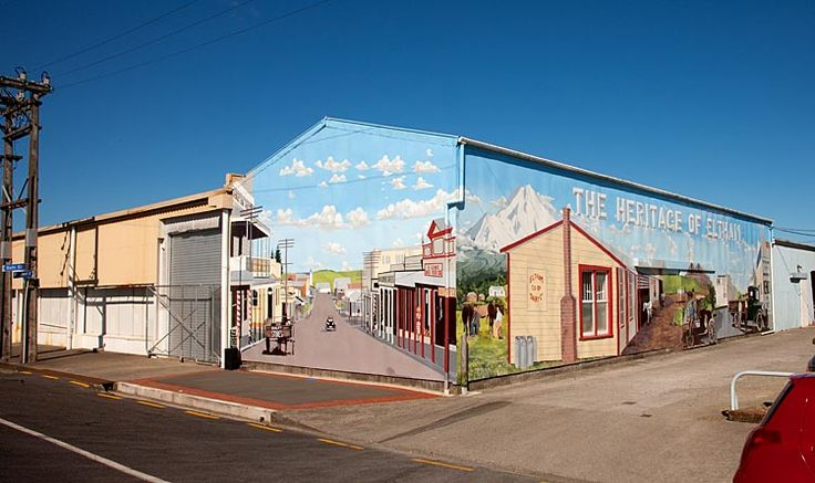Eltham, Mural, see more at New Zealand Journeys app for iPad www.gopix.co.nz