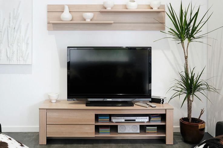 MEUBLE TV COULEUR CHÊNE COLOMBUS http://www.cotecosy.com/salon/rangement-salon/meubles-tv/meuble-tv-couleur-chene-colombus.html