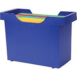 Leitzhangmappenbox 8 hangmappen blauw 330 x 158 x 265 mm for Ladeblok in karton