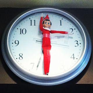 Elf on the shelf clock idea