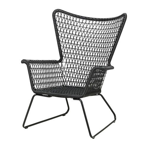 HÖGSTEN Armchair - black - IKEA  Want to get this to put outside on the deck.