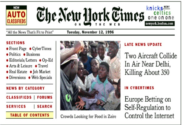 First design for New York Times online