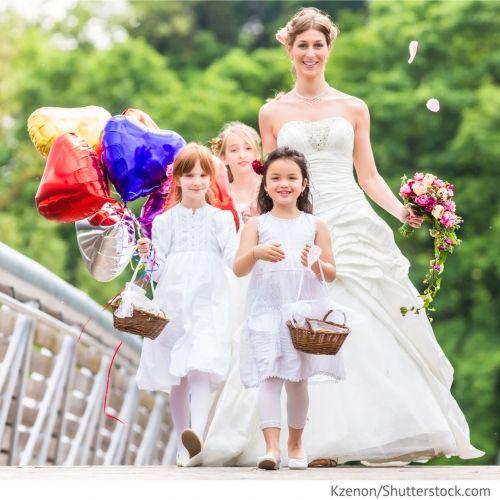 Дети на свадьбе С детьми на свадьбе - как избежать стреса с ними