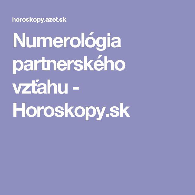 Numerológia partnerského vzťahu - Horoskopy.sk