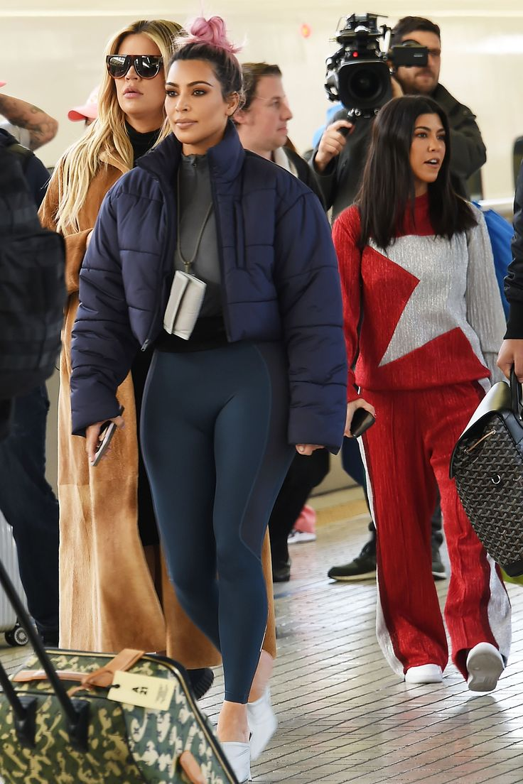 Kim Kardashian Rocks Another Spandex Look in Tokyo During Outing with Khloé and Kourtney