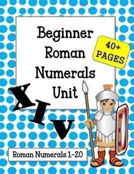Roman Numerals #1-20OVER 40 PAGES!!! Everything you need to teach basic beginner Roman Numerals.  Great for Centers, Review and Game Time!Included:Roman Numeral PostersWorksheets w/ Answer KeysRoman Numeral FoldablesFlashcardsMatching GameRoll & Cover Dice GameColor by Roman Numeral