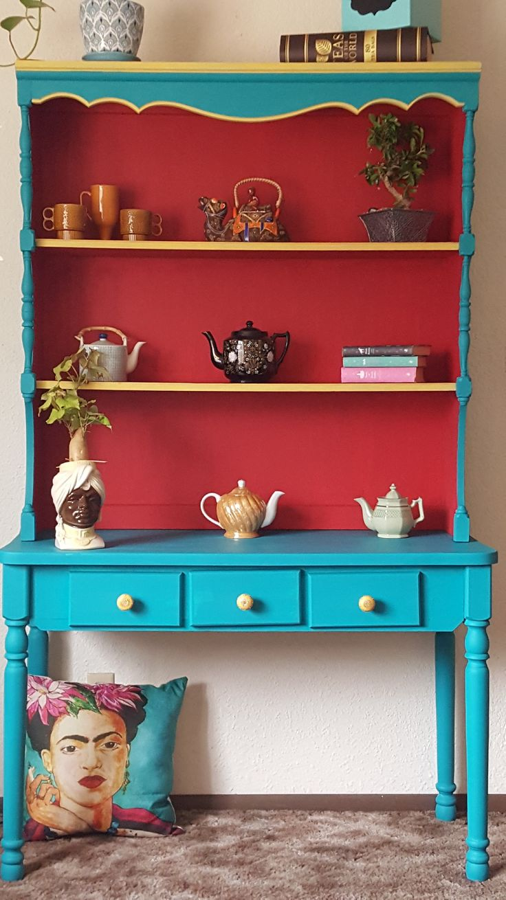 Little Freda inspired chalk painted furniture. Home decor on the cheap!