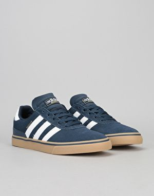 buy popular 5219b c376b Adidas Busenitz Vulc ADV Skate Shoes - Collegiate NavyFtwr WhiteGum