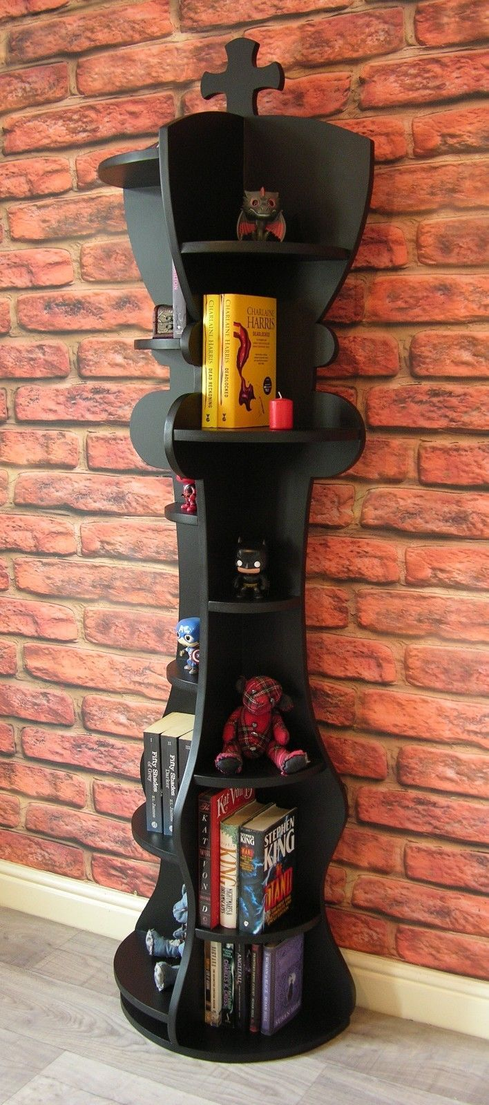Unusual #modern 6ft chess piece king #shaped bookcase / #shelving unit / novelty , View more on the LINK: http://www.zeppy.io/product/gb/2/182253889305/