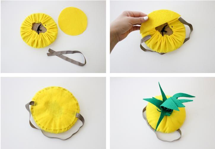 füllen Sie den Hut mit Watte für mehr Volumen auf