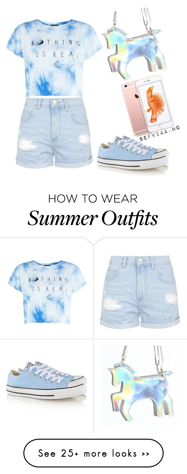 """""""summer outfit"""" by sefviaahq on Polyvore featuring Topshop and Converse"""