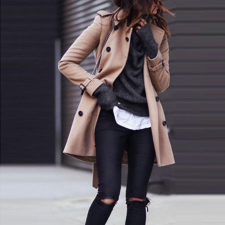 Trend Turndown Collar Pure Color Lengthy Sleeve Coat