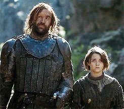 Arya and the Hound. This may be my favorite scene ever.