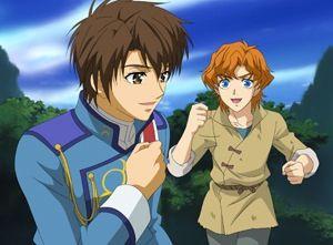 Little Conrad and Yozak        _Kyo Kara Maoh!